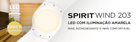 Ventilador de Teto Com LED Integrado - Luz Amarela