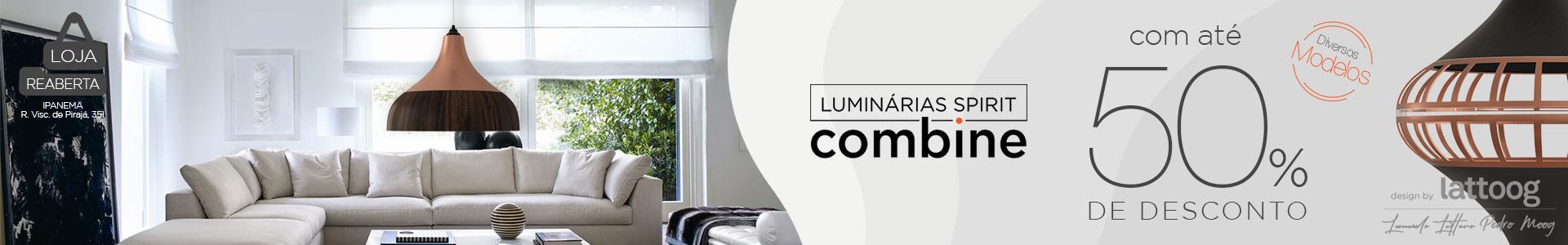 MEGA LIQUIDAÇÃO: Luminária Pendente SPIRIT Combine