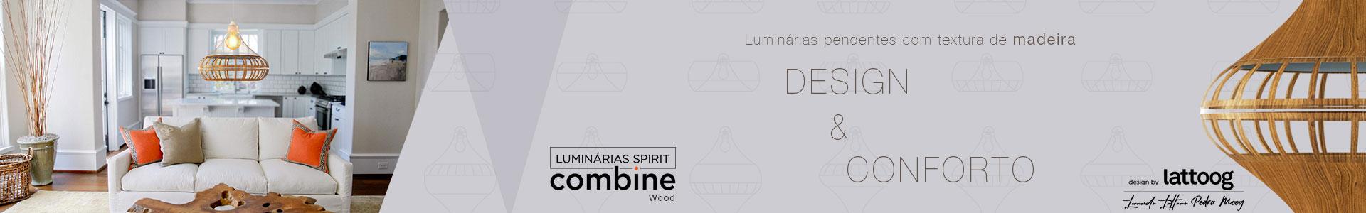Luminária Pendente SPIRIT Combine - Coleção WOOD