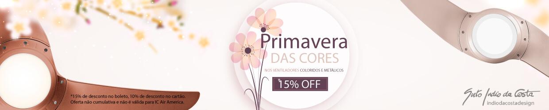 Primavera das Cores - Ventiladores com 20% de Desconto!