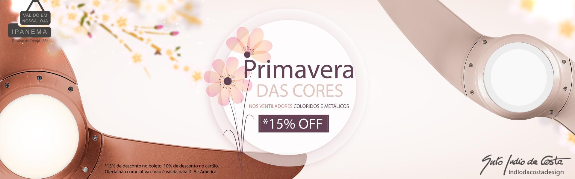 Primavera das Cores - Ventiladores Metálicos e Coloridos até 15% OFF!
