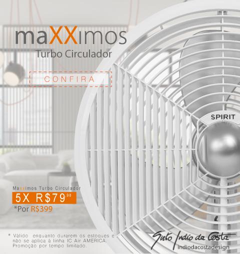 Circulador SPIRIT maXXimos 40cm - 0 Máximo do Vento e do Design!