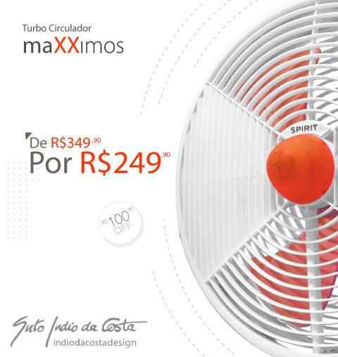 Oferta Circulador de Ar maXXimos - R$50 OFF!