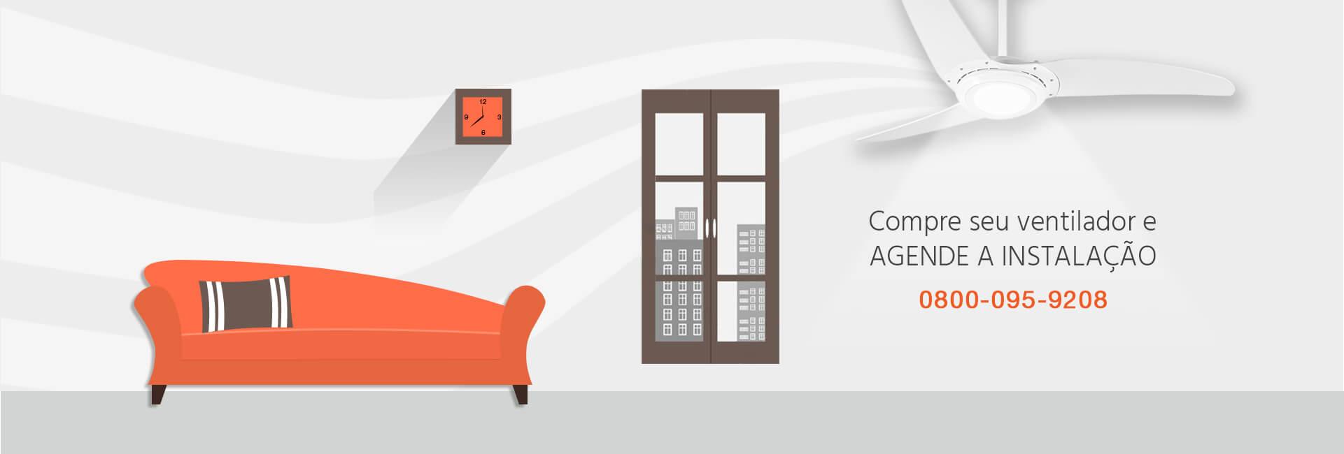 Agende a sua instalação segura de seu ventilador de teto